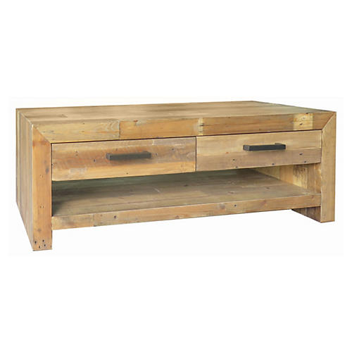 Norman Coffee Table, Natural Brown