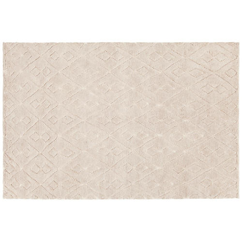 Amasa Hand-Knotted Rug, Blush
