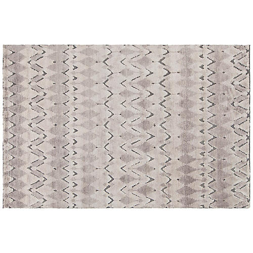 Arnot Hand-Knotted Rug, Gray