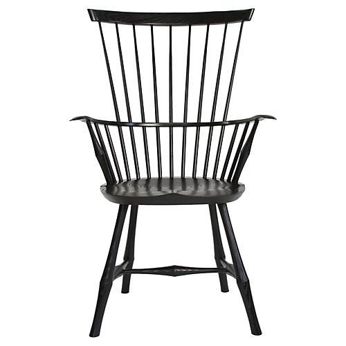 Wayland High-Back Armchair, Black