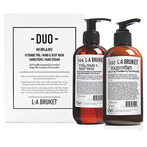 L:A Bruket Sage Hand Wash/Cream Duo Kit