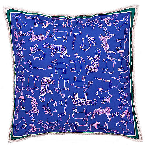 Zodiac 24x24 Pillow, Blue