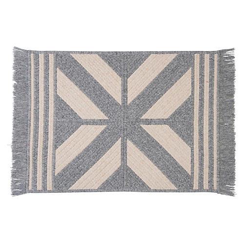 Sedona Wool-Blend Rug, Gray