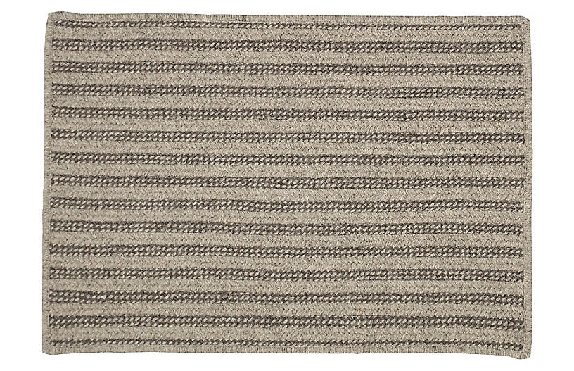Abilene Braided Rug, Dark Gray