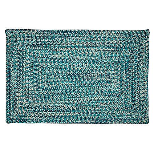 Tweed Outdoor Rug, Blue