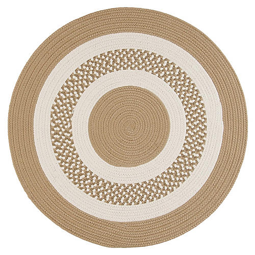 Round Laney Outdoor Rug, Cuban Sand