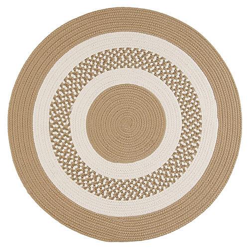 Round Laney Outdoor Rug, Cuban Sand
