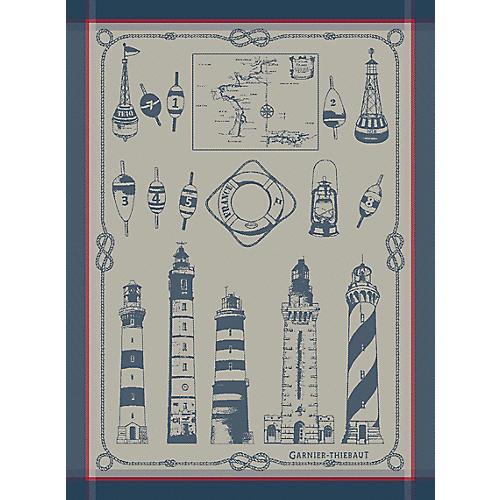 S/4 Ojai Dish Towels, Blue/White