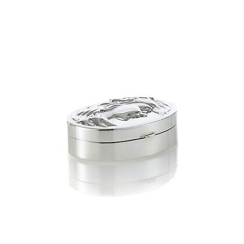 Sterling Silver Oval Lady Pillbox