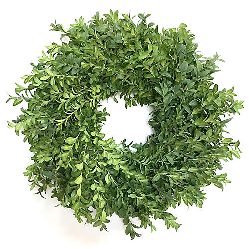 "18"" Boxwood Wreath, Live"