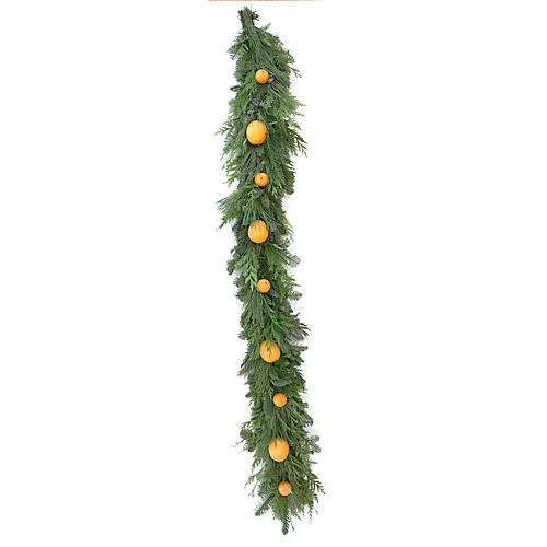 Citrus Live Garland, Green/Orange