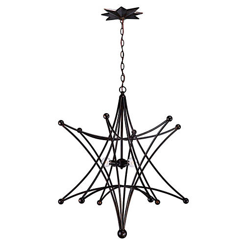 Molly 4-Light Chandelier, English Bronze