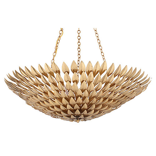 Broche 8-Light Chandelier, Gold