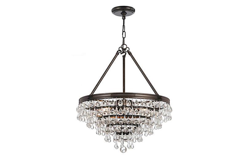 6-Light Chandelier, Vibrant Bronze