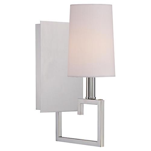 1-Light Sconce, Nickel