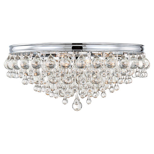 Calypso 6-Light Flush Mount, Chrome