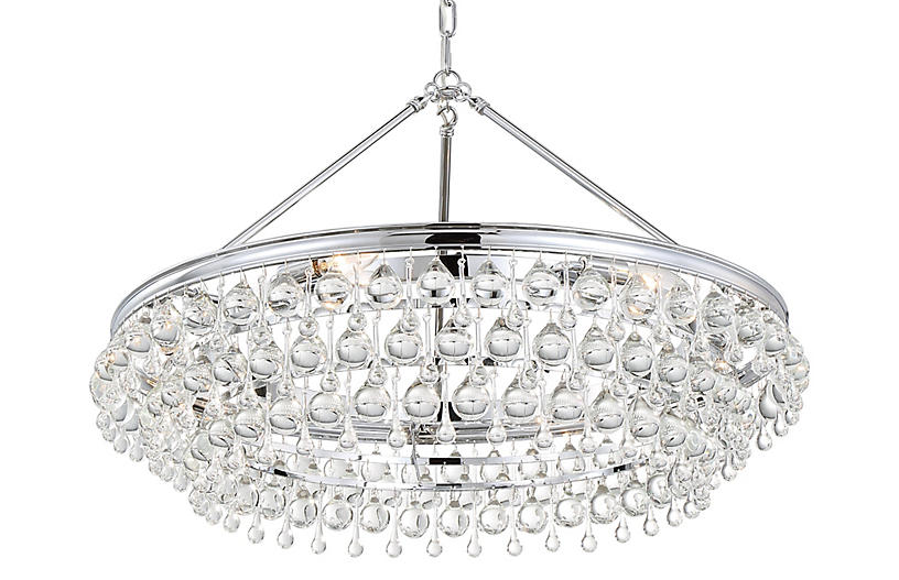Calypso 6-Light Chandelier, Chrome