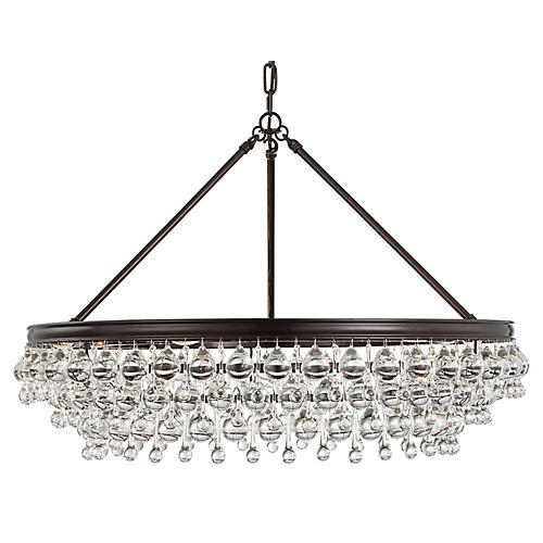 Calypso 6-Light Chandelier, Bronze