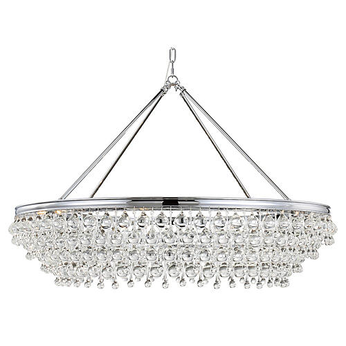 Calypso 8-Light Chandelier, Chrome
