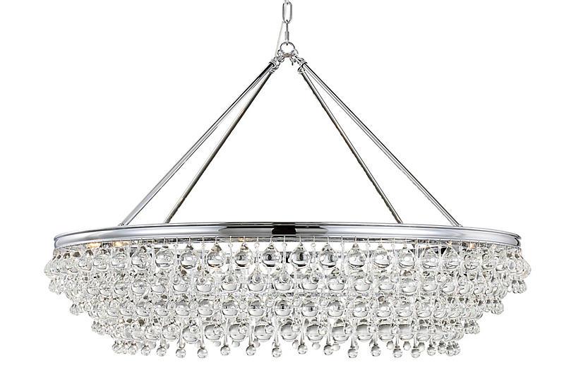 Calypso 8-Light Chandelier, Chrome