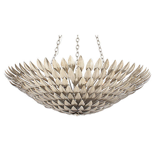 Broche 8-Light Chandelier, Silver