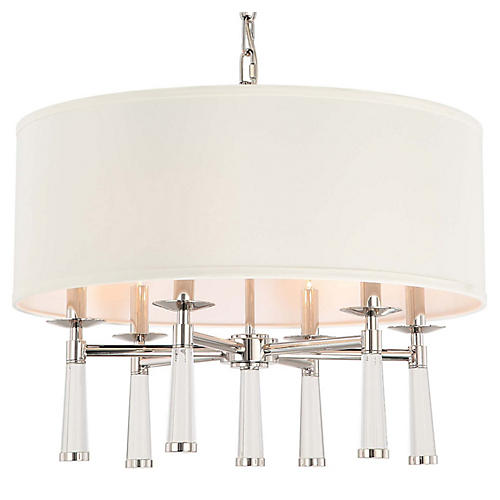 Baxter 6-Light Chandelier, Nickel