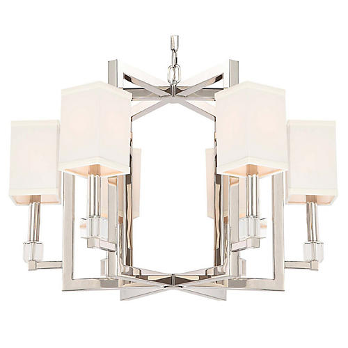 Dixon 6-Light Chandelier, Nickel
