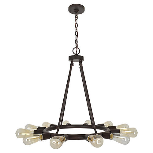 Dakota 12-Light Chandelier, Bronze