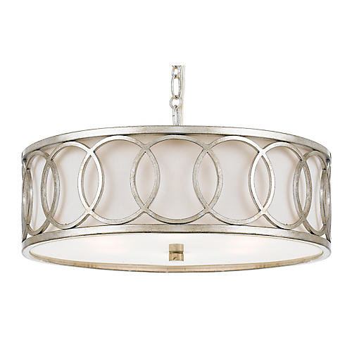 Graham 9-Light Pendant, Antiqued Silver