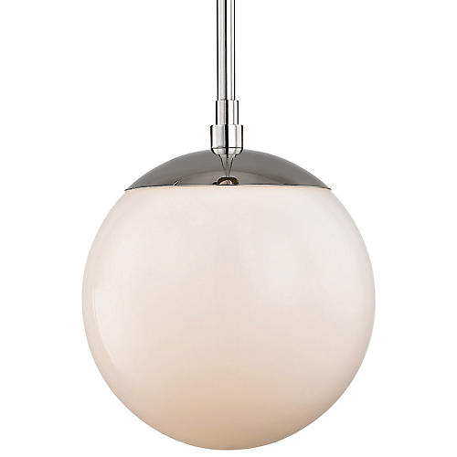 Truax Pendant, Nickel/Frosted