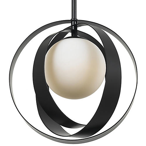 Arlo Mini Pendant, Black/White
