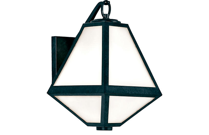 Glacier Outdoor Sconce, Charcoal