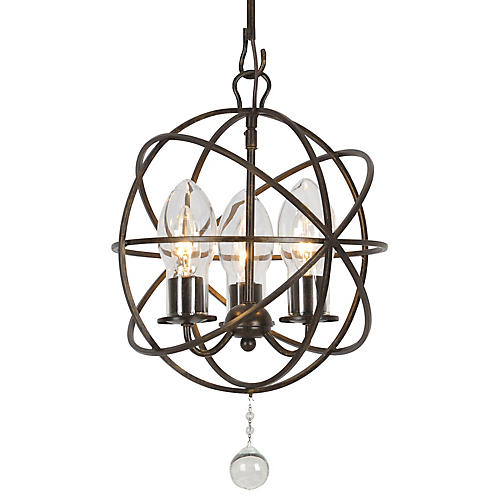 Solaris Outdoor 3-Light Chandelier, Bronze