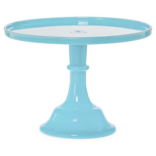"6"" Robin Egg Blue Cake Stand"