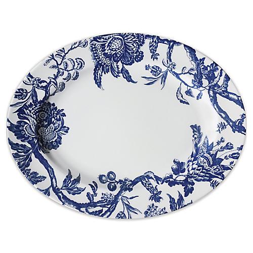 Arcadia Platter, White/Blue