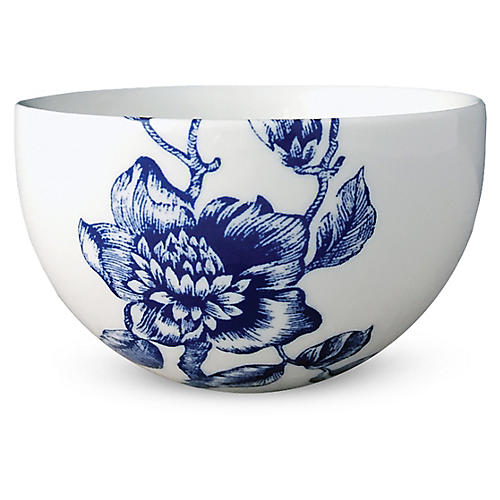 Chinoiserie Bowl, White/Blue