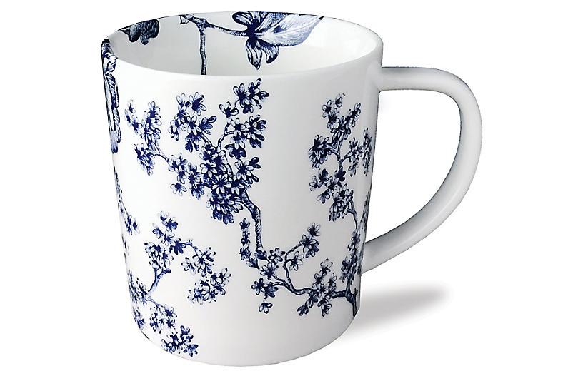 Chinoiserie Mug - White/Blue - Caskata