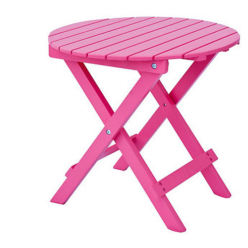 Adirondack Round Side Table, Pink