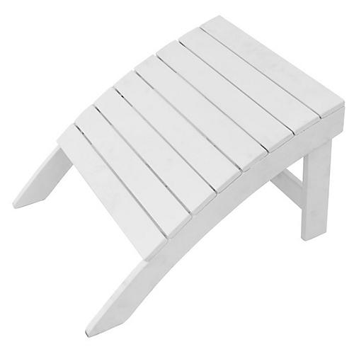 Adirondack Outdoor Ottoman, White