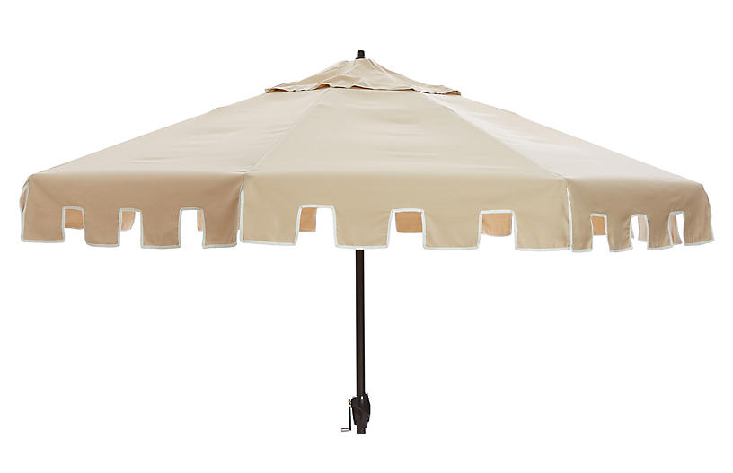 Nina Patio Umbrella, Tan