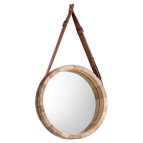 "Emelia 19""x36"" Wall Mirror, Beige"