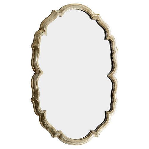 "Banning 29""x39"" Oversize Mirror, Silver"