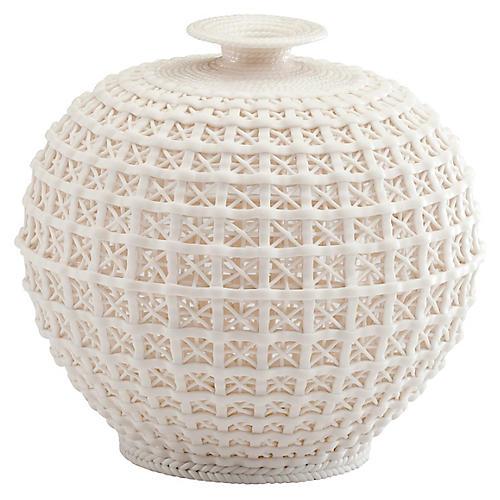 """8"""" Diana Vase, Matte White"""