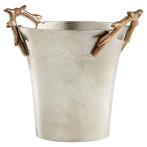 "10"" Buck-Et Container, Silver/Gold"