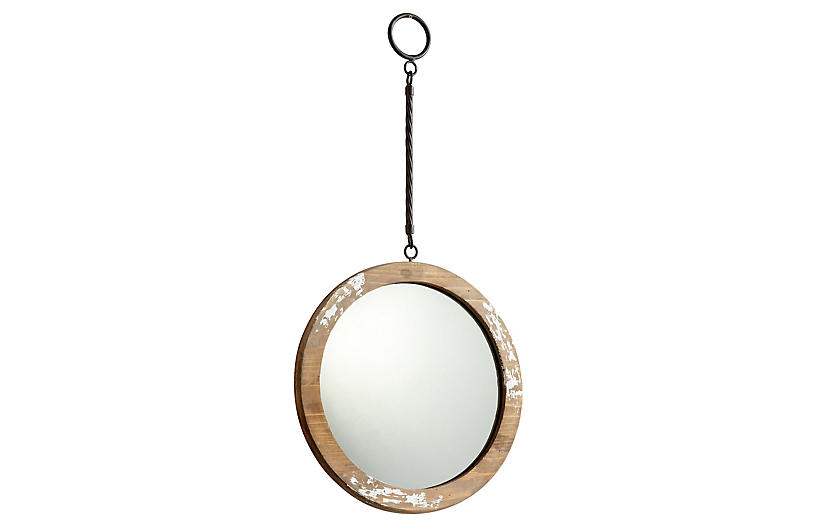 Through the Looking Wall Mirror, Antiqued White