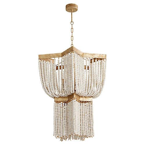 Estrella Small Pendant, Gold Leaf/Ivory