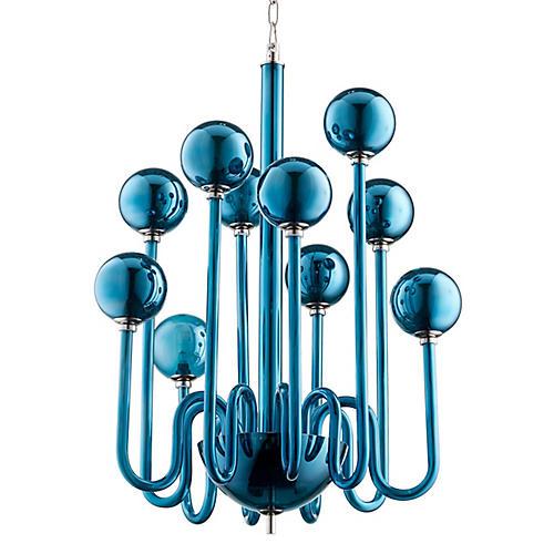Marilyn Small Chandelier, Blue