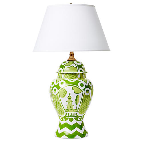 Summer Palace Lamp, Green