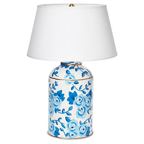 Small Chintz Table Lamp, Blue
