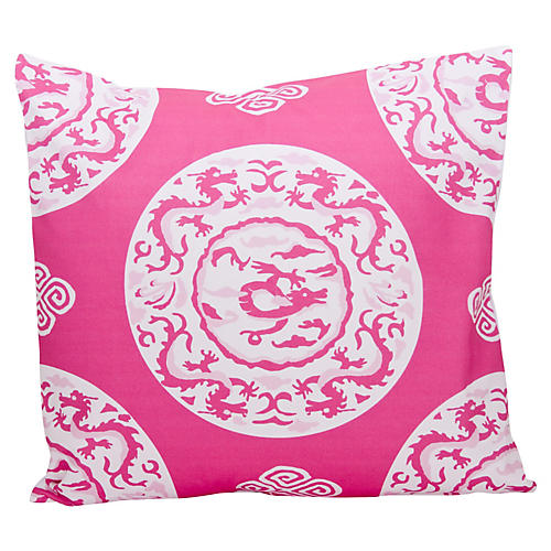 Dragon 22x22 Pillow, Pink